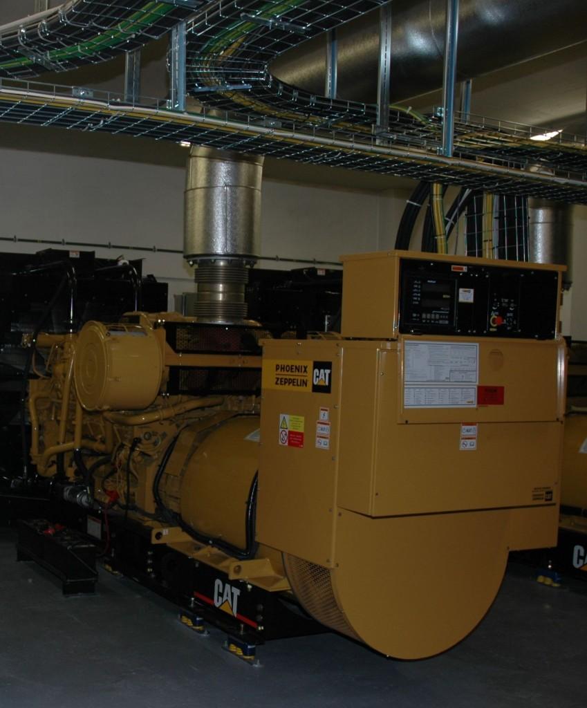 Jeden z diesel agregátů